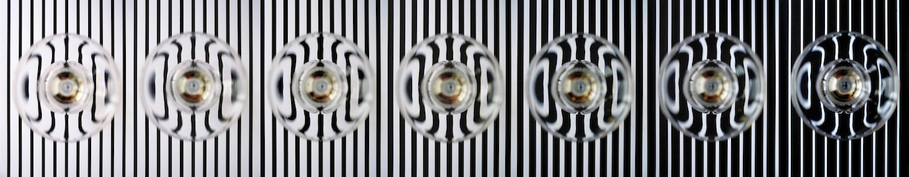 """Graduation Stripes"" ,  Lambda C-print Kaschierung mit Silikon hinter Acrylglas auf Alu-Dipond,  Ed 10 + 2 AP , 200x37 cm , 1994/2016"