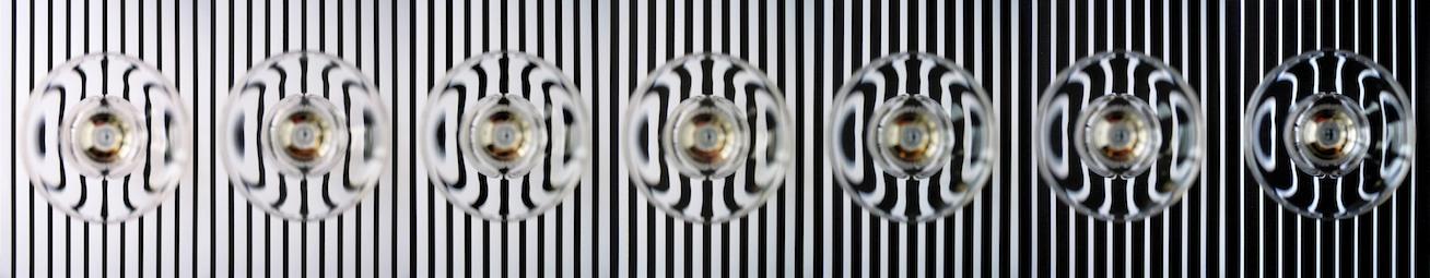 """Graduation Stripes"" ,  Lambda C-print on Alu-Dipond behind acrylic glas ,  Ed 10 + 2 AP , 200x37 cm , 1994/2016"