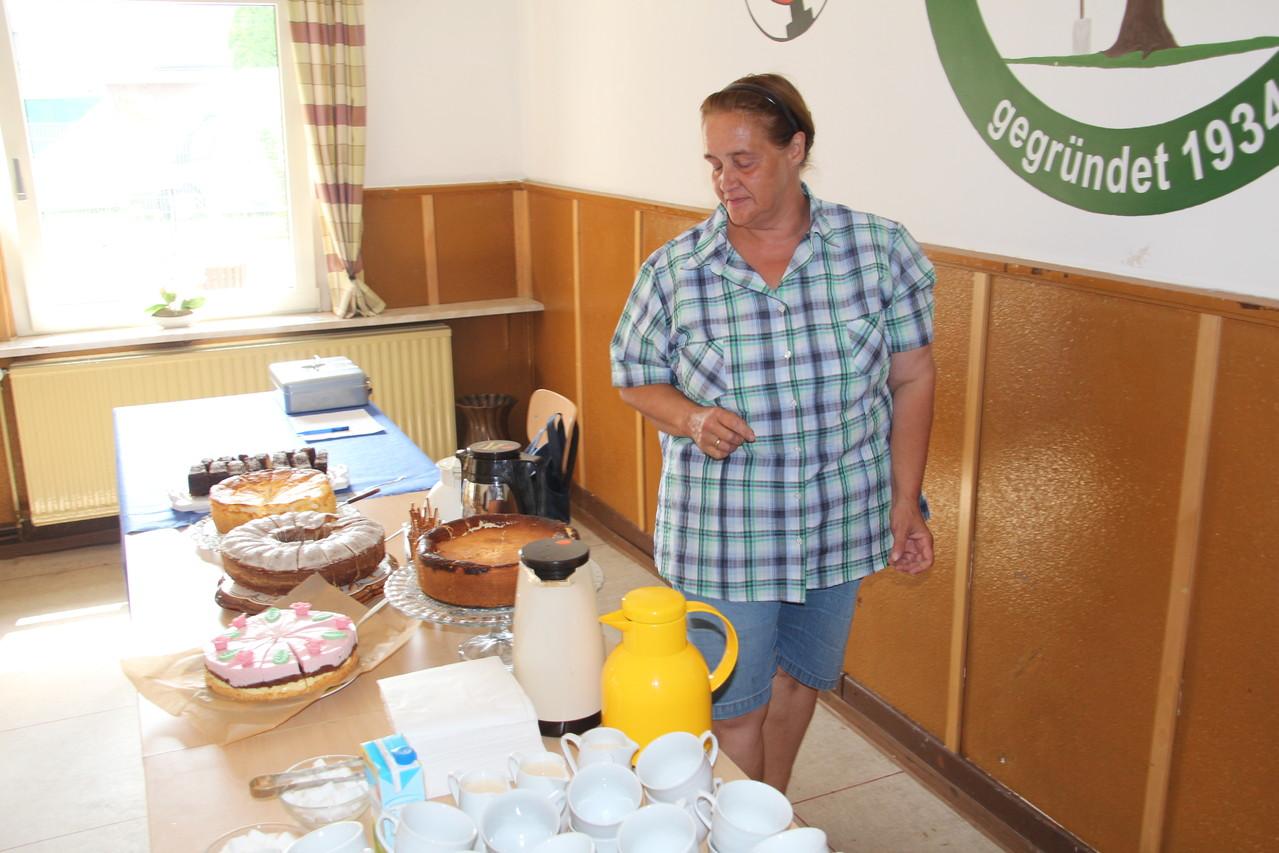 Gut gesorgt für Kaffee und Kuchen