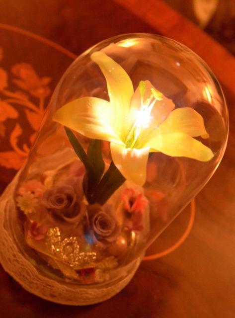 光る魔法の花