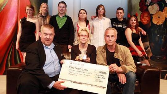 Spendenübergabe Tatort-Verein Aachen, 2011