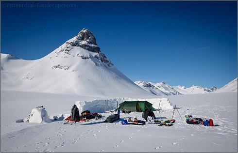 Winter camping in the Jotunheimen mountain range (Kyrkja, Smörstabbtindane, norway, norge, vinteren, Hilleberg, Nammatj, pulksled, Pulka)