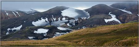 Fantastic forms of Ryholith and Snow in Landmannalaugar (Fjallabak, Torfajökull, Hrafntinnuskuer, Laugavegur, Jökulgil, Sveinsgil, Græni hryggurin, bláhnukur, brennisteinsalda, laugahraun, hot pot, suðurnámur, barmur, kirkjufell, tungnáa, skalli)