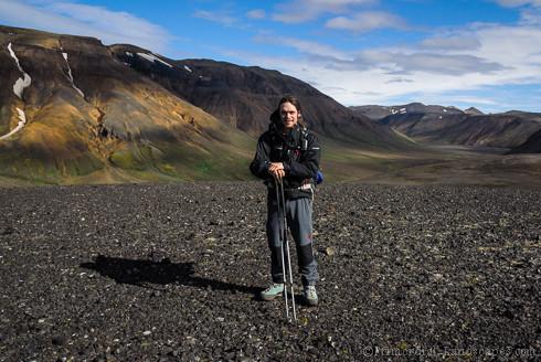 Trekking in the lava desert ódáðahraun (nýidalur, vonarskarð, vonarskard, odadahraun, askja, herðubreið, herdubreid, dyngjufjöll, bárðarbunga, bardarbunga, Mývatn, Gæsavatnaleið, Bræðrafell, Öskjuvegur, fissure, lava)