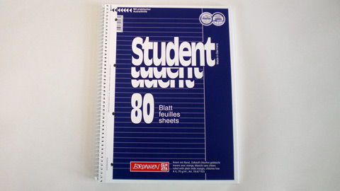 "College Block Lineatur 25, ""liniert mit Rand"" DIN A4 0,65 €"