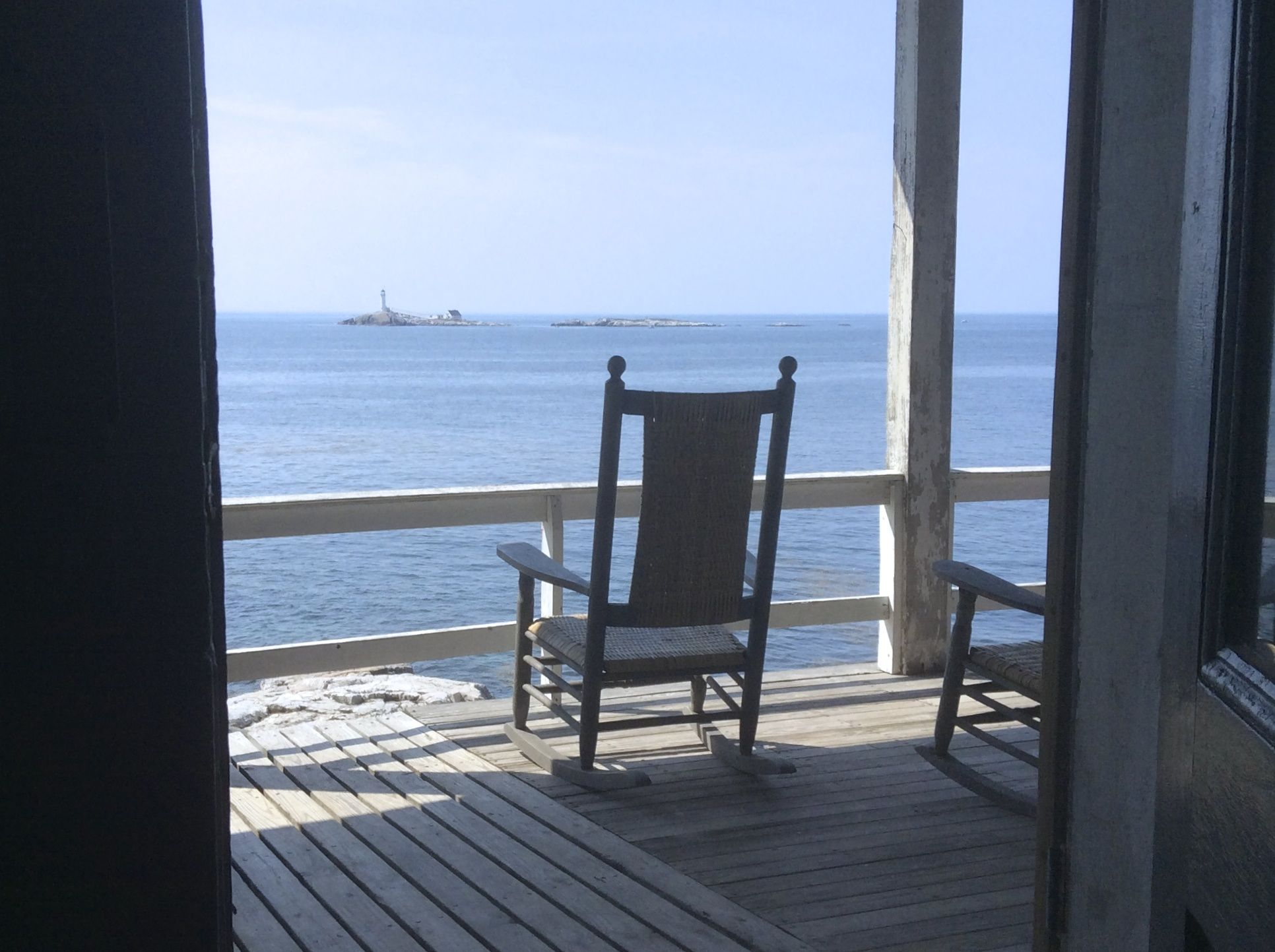 View from the porch of the Oceanic Hotel at Star Island