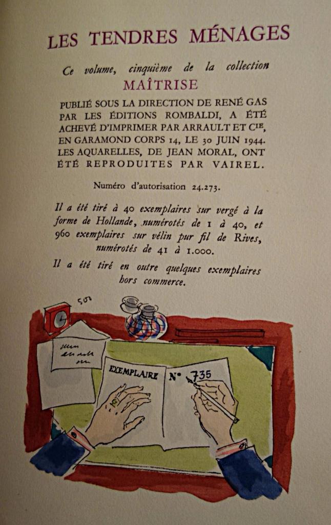 Paul-Jean Toulet, Les tendres ménages, livre rare, livre ancien