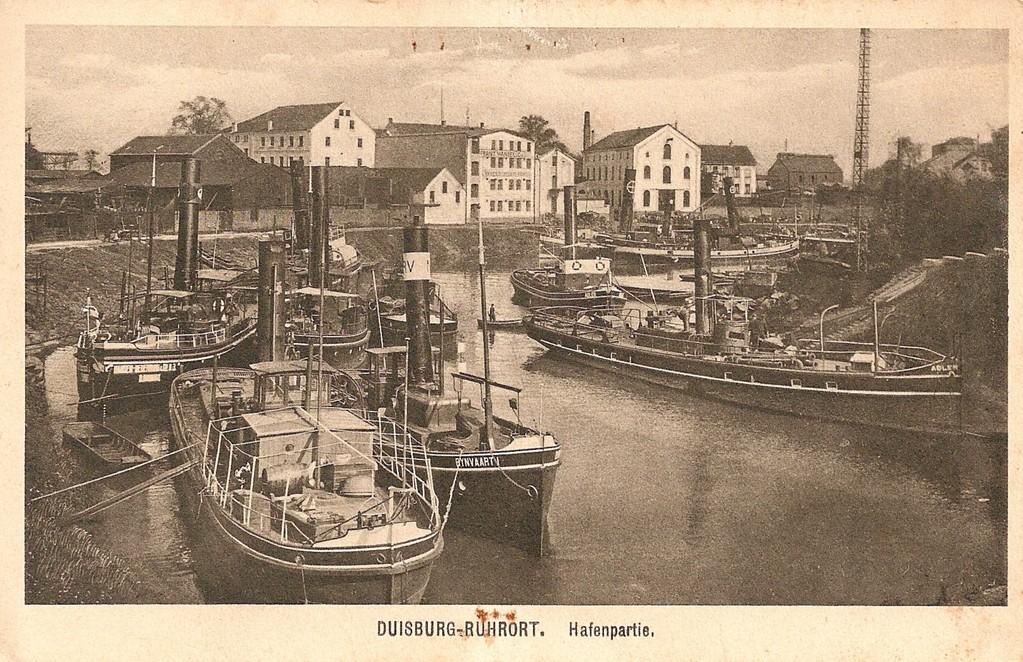 """Hier - im alten Werfthafen - hat der alte """"Pott"""" von Alfred van Grodzek wohl so manches mal angelegt und seine Ladung gelöscht."""