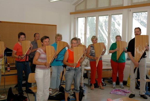 Panflötenfestival Arosa Bass- Kurs