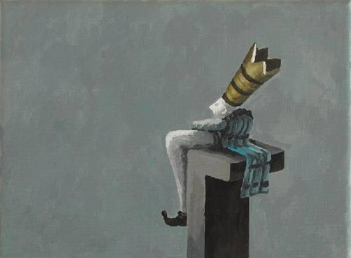 Herrscher - 18 x 14 cm - Acryl auf Leinwand - 2017