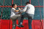 Training vor einem buddhistischen Tempel mit GM Cheng Kwong
