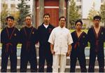 Mit anderen Schülern von GM Leung Ting