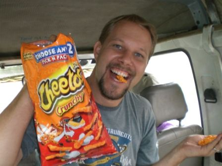 Cheetos from suitcase brought by Pastor Rich from USA