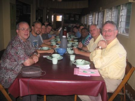 eating at Baptist Retreat Center in Bamenda
