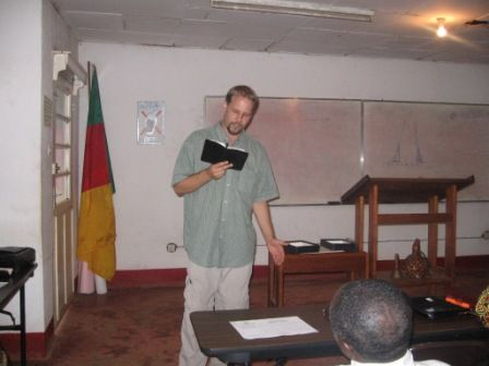 Eric teaching in Bamenda