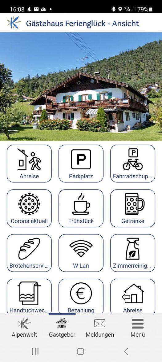 Digitale Gästemappe in der Alpenwelt-Karwendel-App