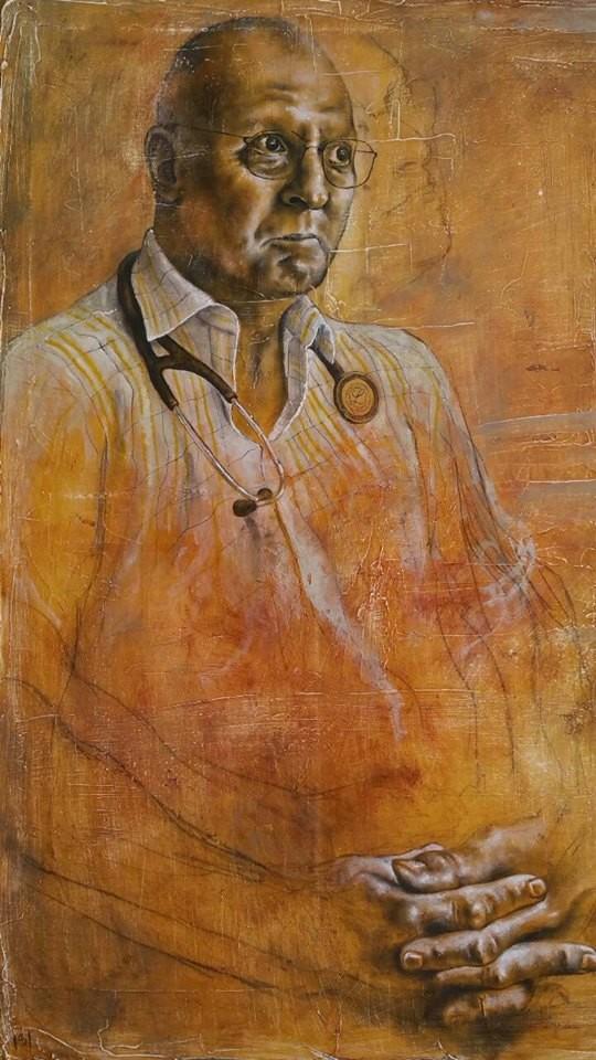 """Jockl Porträt vom Künstler """"ISI"""" Iliev ISKREN August 2015"""