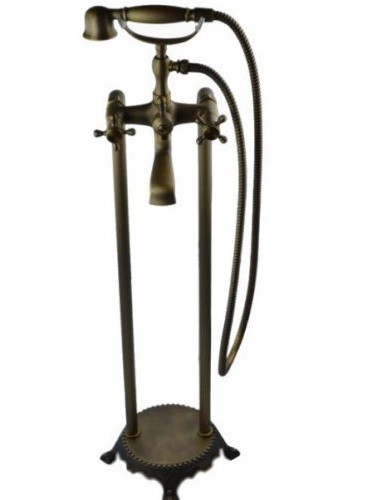 Antique Brass Bronze Traditional Telephone Style Floor
