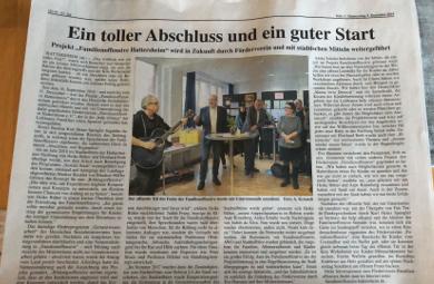 Artikel über die Entstehung der Familienoffensive Hattersheim und des Fördervereins für die Familienoffensive