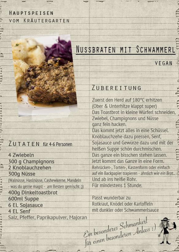 Nussbraten, Rezepte, vegan im kräutergarten; im kräutergarten; vegan kochen, Backen, im kräutergarten, knospe, grüne kosmetik