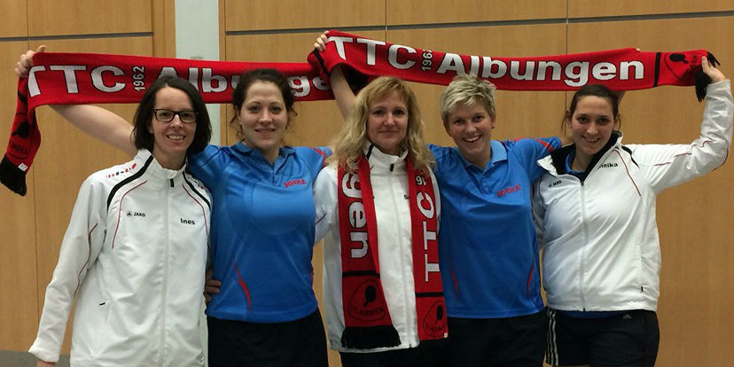 Das Team des Jahres der Kreisstadt Eschwege, das bei den Deutschen Meisterschaften für Furore sorgte: (v.l.) Ines Reifenstahl, Martina Becker, Christa Beck, Sarah Schneider und Annika Oesterheld.