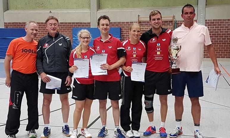 (Von links) Kreiswart Thomas Freitag, Kalle Simon, Nele Freitag, Timo Beck, Lisa Ringleb, Nico Beck und Stefan Börner.  Foto: Ronny Schlägel
