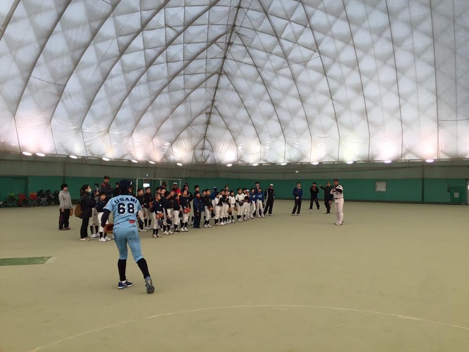 第5回 網走中央病院野球教室(写真3)指導風景