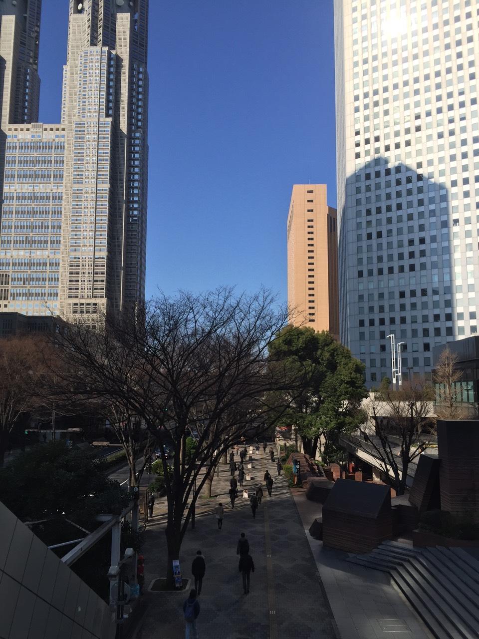 ドラマ撮影(春編)写真2 新宿西口の街並み