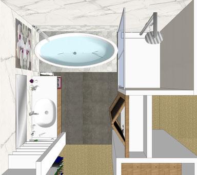 Salles de bain par MP intérieurs, Architecte d'intérieur UFDI sur Bordeaux et sa région (33).