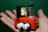 世界最小 サブミニチュア管ギターアンプ自作 DIY subminiature tube guitar amplifier