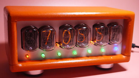 DIY NIXIE Tube Clock+Week  曜日表示付き6桁ニキシー管時計自作