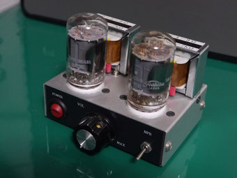17JZ8 low voltage tube amp 低電圧真空管アンプ自作