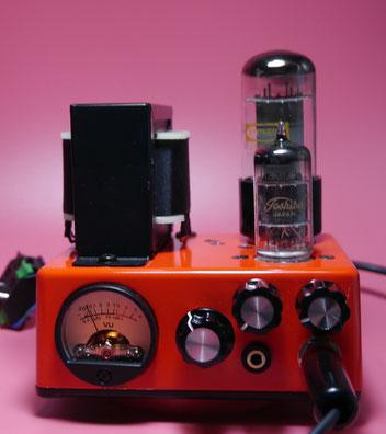 mini Fender Princeton 5F2-A 真空管ミニギターアンプ自作 Guitar Small Tube Amplifier Head build - 12V6(6V6) GT