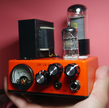 mini Fender Princeton 5F2-A guitar amp -  micro tube amplifier 5W 小型真空管ギターアンプ自作