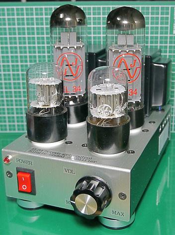 EL34スクリーングリッド出力 真空管シングルミニアンプ自作 DIY EL34 Screen grid output SE AMP