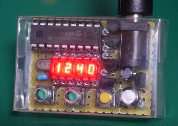 小型LED時計自作