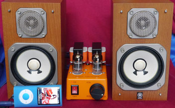 DIY-Audio 6C45n-E Single-Ended Simple Mini Tube Amplifier + YAMAHA NS-10MMT 真空管アンプ自作