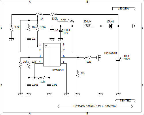 vacuum tube amplifier DC-DC step up power supply schematic