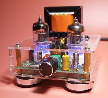 DIY Low Cost Valve Amplifier   under $50 小型真空管アンプ自作 真空管プリアンプキット改造
