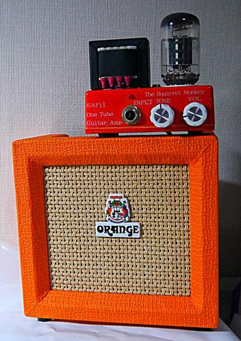 小型ギターアンプ  ORANGE CR3 MICRO CRUSH  + The Squirrel Monkey One Tube Guitar Amplifier