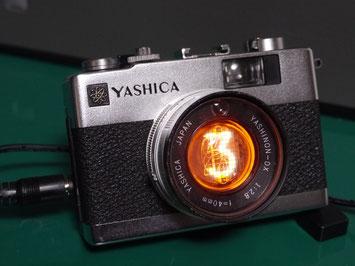 1桁ニキシー管時計自作  YASHICA ELECTRO 35 MC