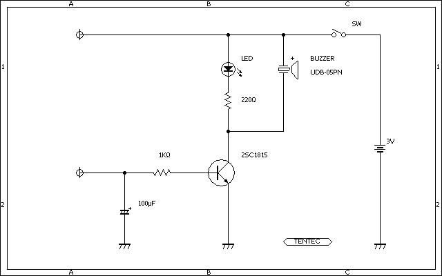 1石 簡単イライラ棒 回路図