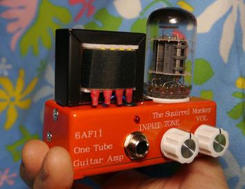 超小型真空管ギターアンプ自作 6AF11 guitar amp head