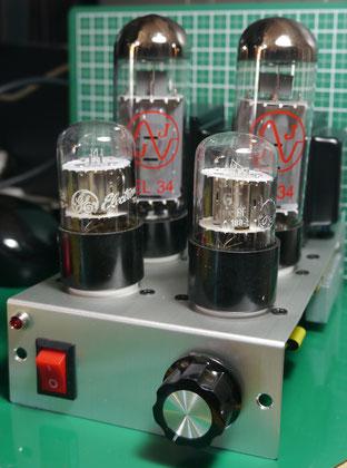 EL34小型真空管ステレオアンプ自作 DIY-Audio EL34 Single Ended Amplifier
