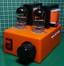 6C45n-E 小型真空管シンプルアンプ自作 6C45n-E simple Tube Amplifier