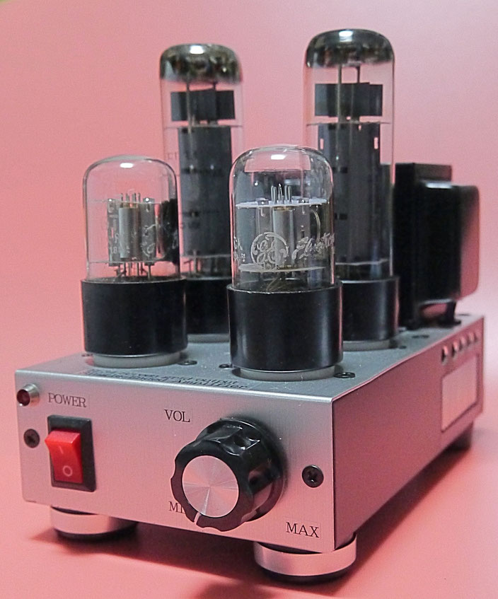 EL34/6CA7シングルミニアンプ自作 DIY-Audio EL34 Single-Ended vacuum tube Amplifier 小型真空管アンプ自作