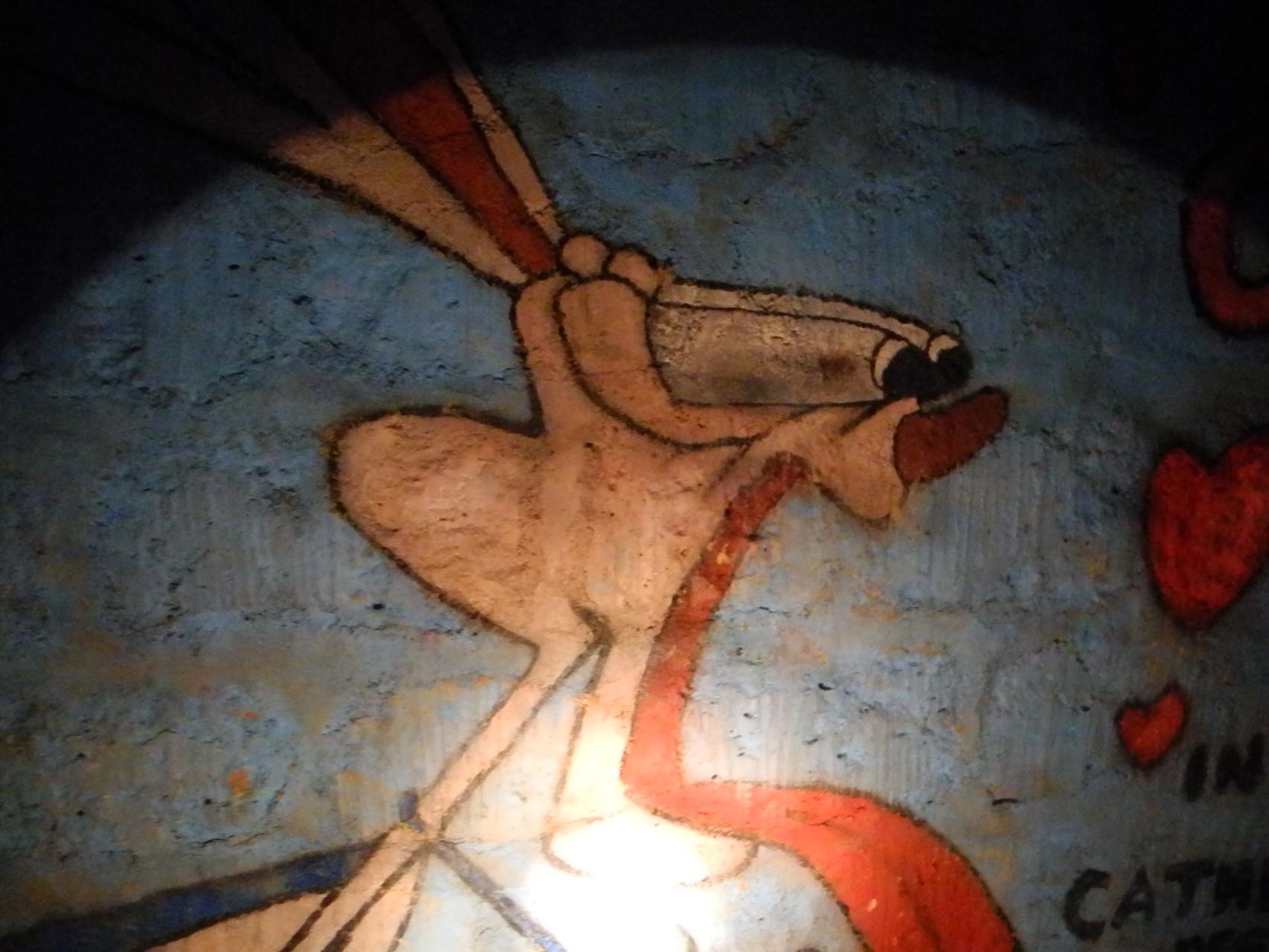Exemples de fresques des étudiants de l'Ecole des Mines dans la galerie des promos