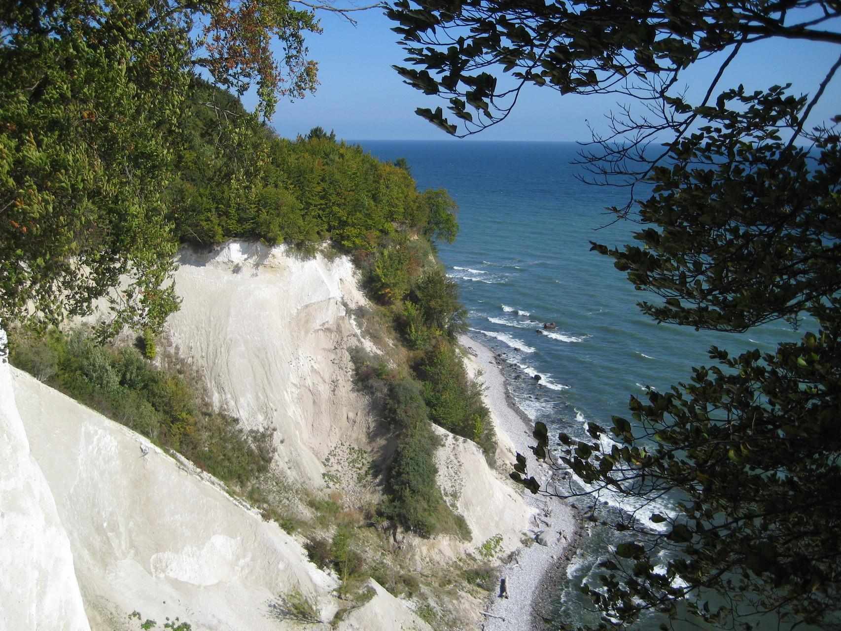 Kreidefelsen auf der Halbinsel Jasmund/Rü. am 20.09.2014