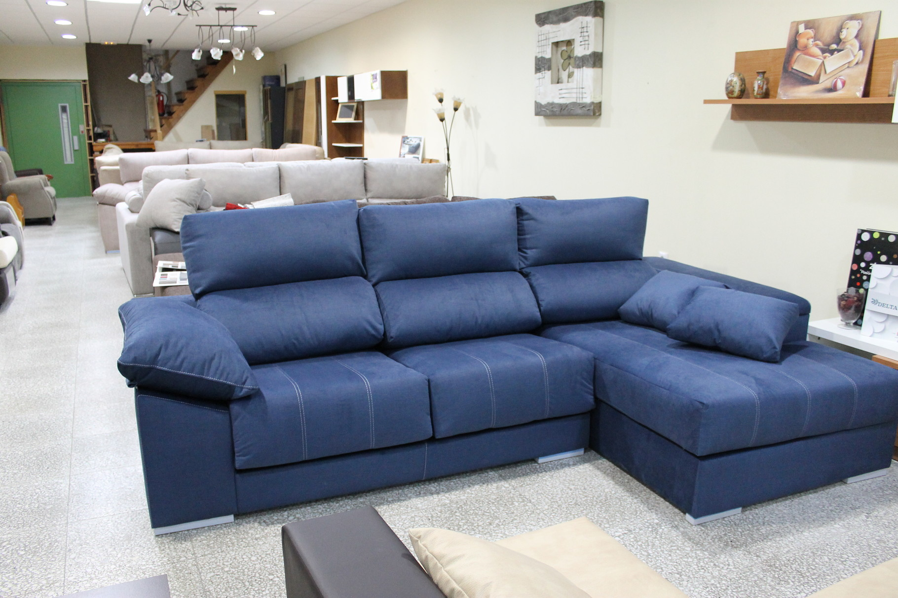 Sofa chaiselonge atlanta gran surtido en salones for Sofa cheslong