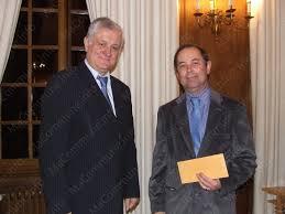 Francis Péroz lors de la remise des prix
